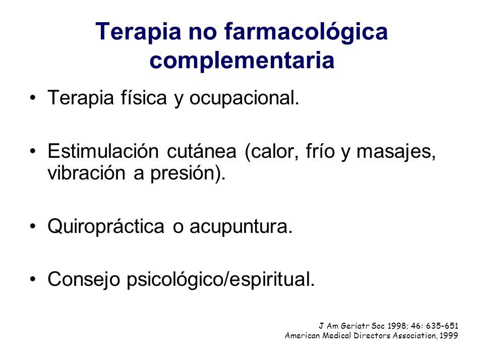 Terapia no farmacológica complementaria