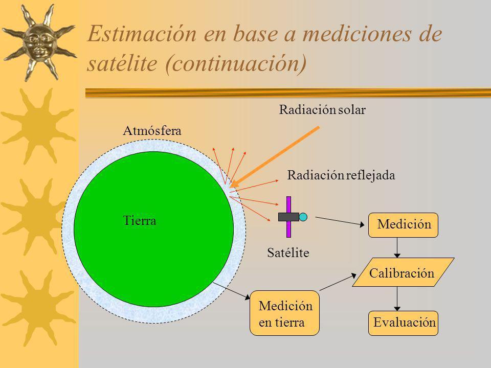 Estimación en base a mediciones de satélite (continuación)