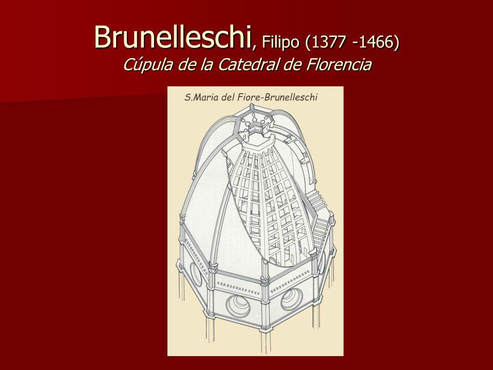 Brunelleschi, Filipo (1377 -1466) Cúpula de la Catedral de Florencia