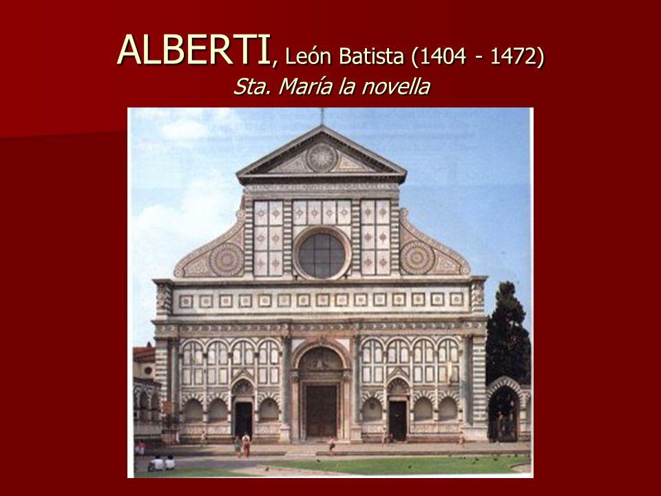 ALBERTI, León Batista (1404 - 1472) Sta. María la novella