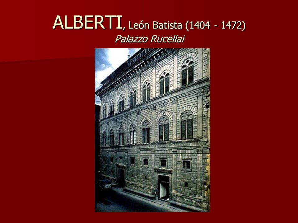 ALBERTI, León Batista (1404 - 1472) Palazzo Rucellai