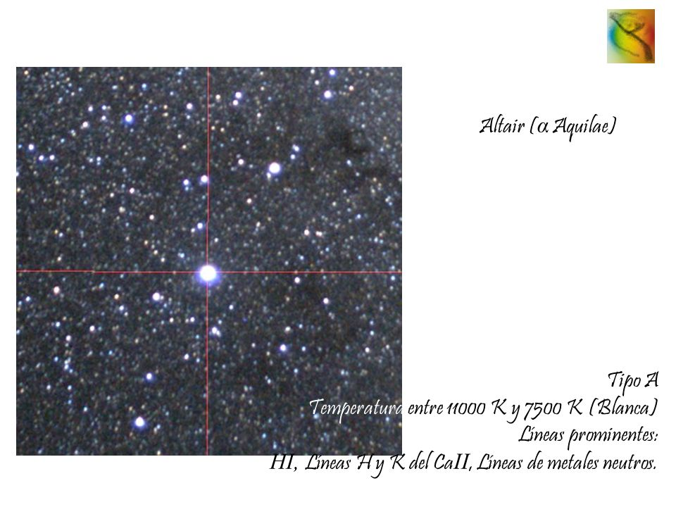 Altair (α Aquilae) Tipo A.