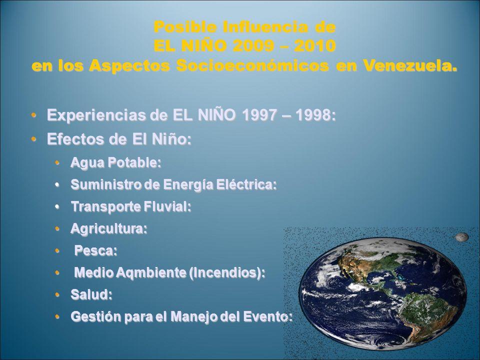 en los Aspectos Socioeconómicos en Venezuela.