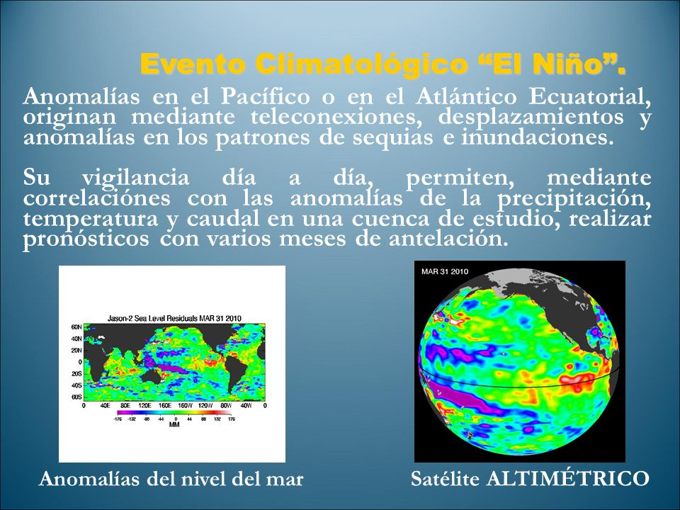Evento Climatológico El Niño .