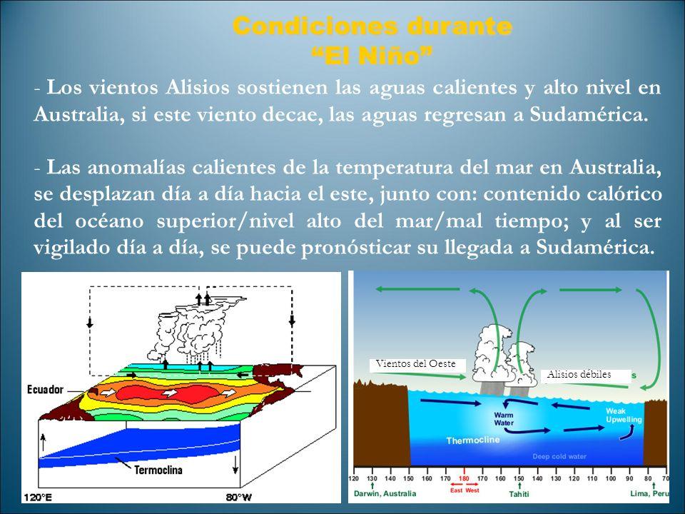 Condiciones durante El Niño
