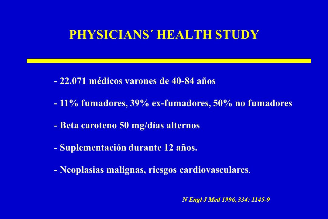 PHYSICIANS´ HEALTH STUDY