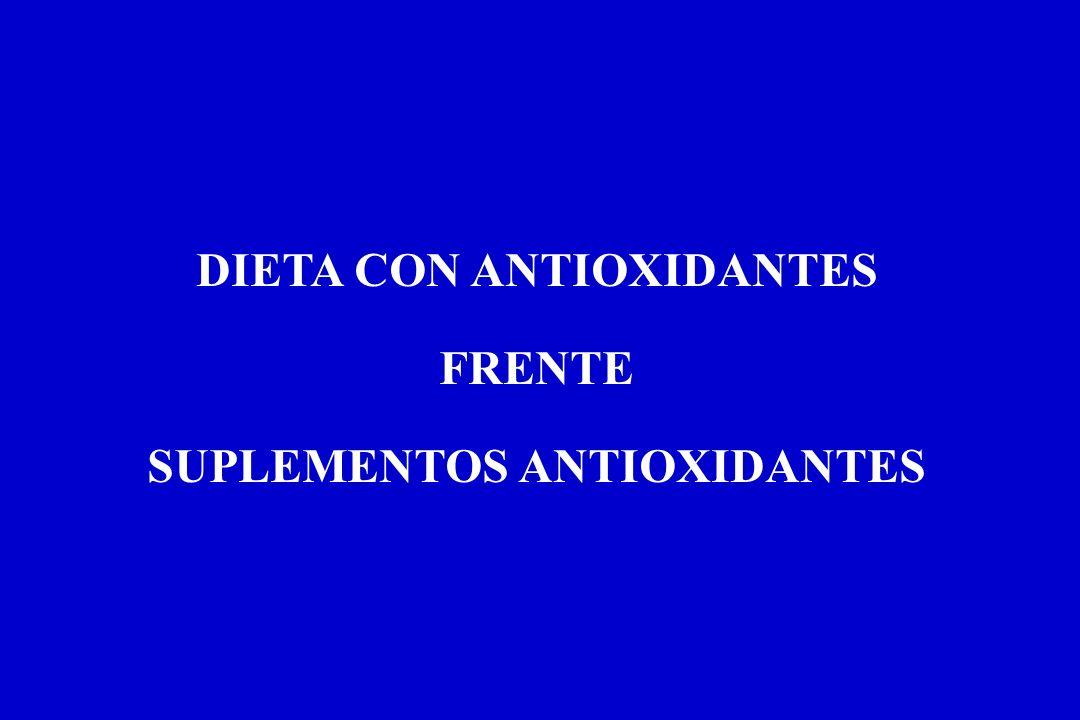 DIETA CON ANTIOXIDANTES SUPLEMENTOS ANTIOXIDANTES