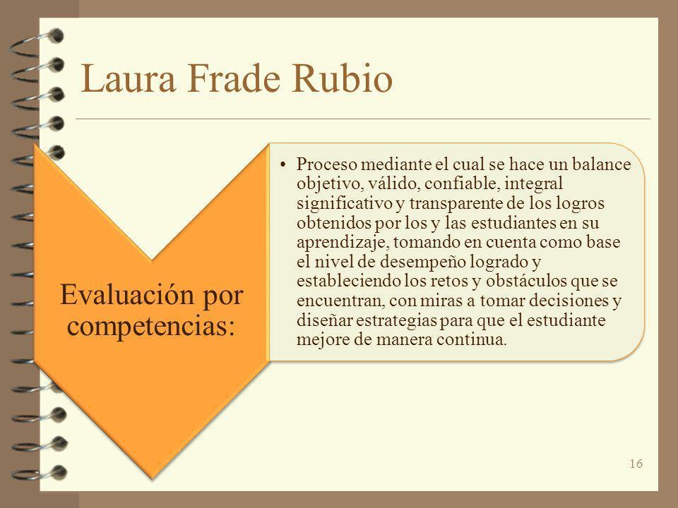 Evaluación por competencias: