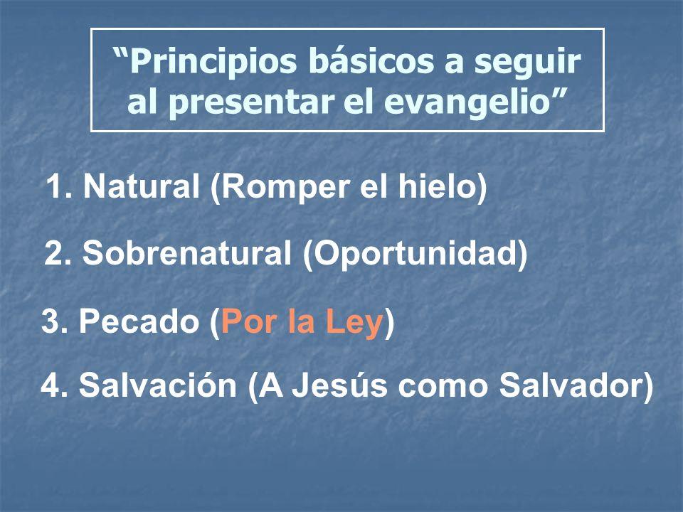 Principios básicos a seguir al presentar el evangelio