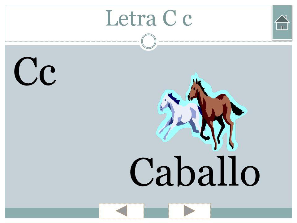 Letra C c Cc Caballo