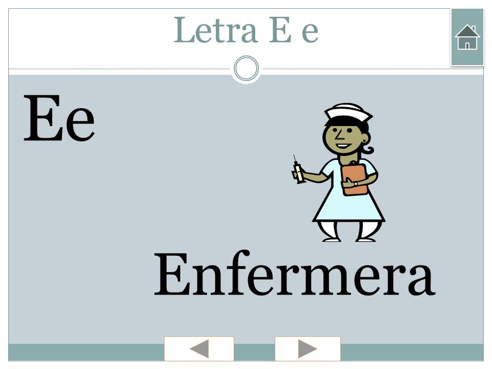 Letra E e Ee Enfermera