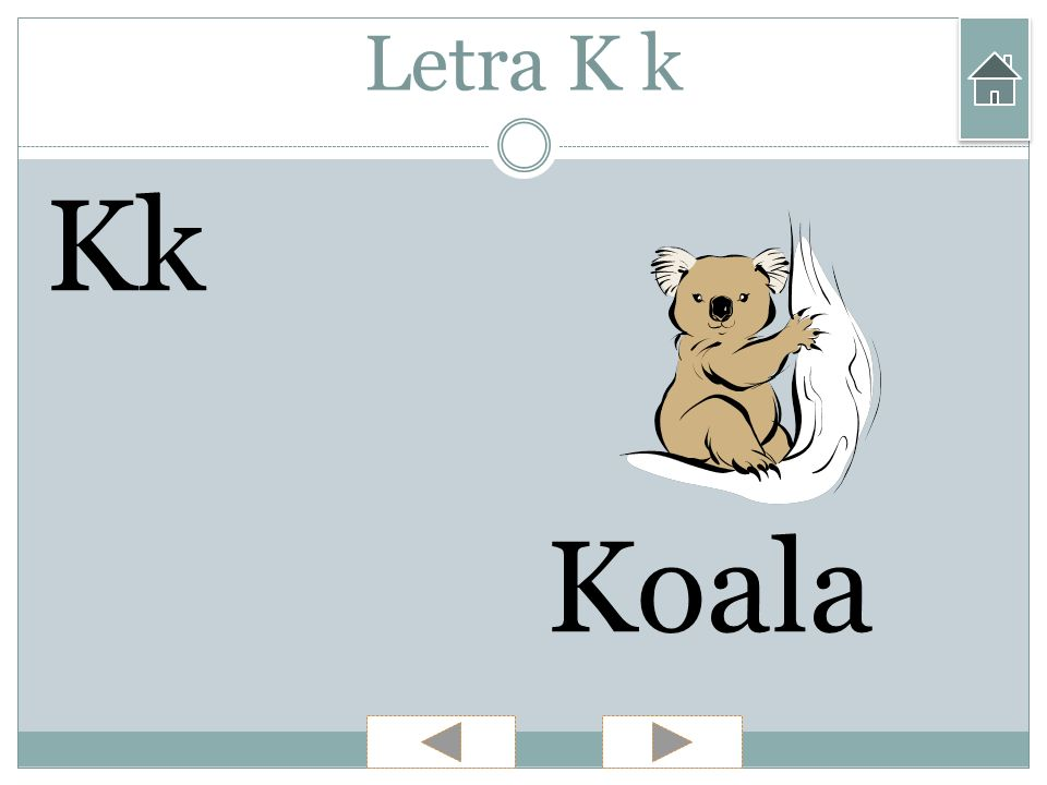 Letra K k Kk Koala