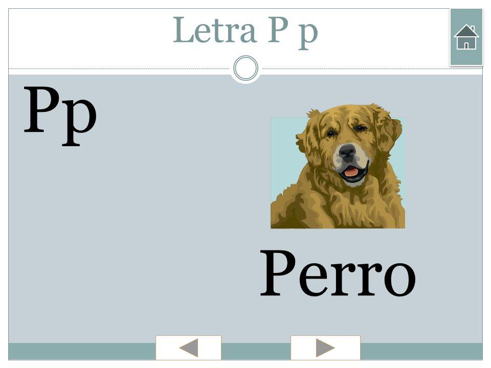 Letra P p Pp Perro