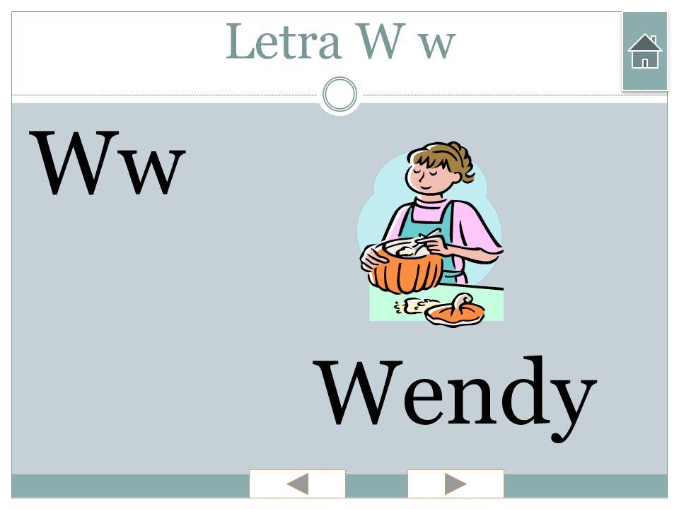 Letra W w Ww Wendy