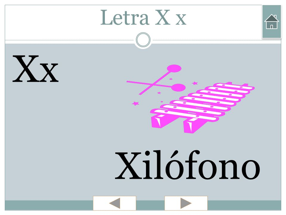 Letra X x Xx Xilófono