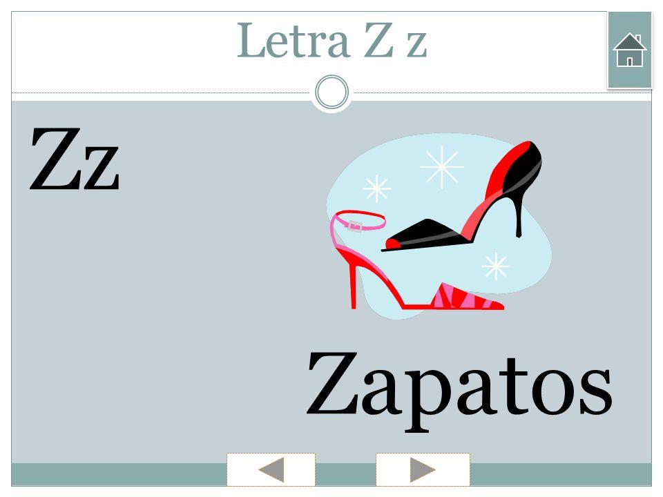 Letra Z z Zz Zapatos