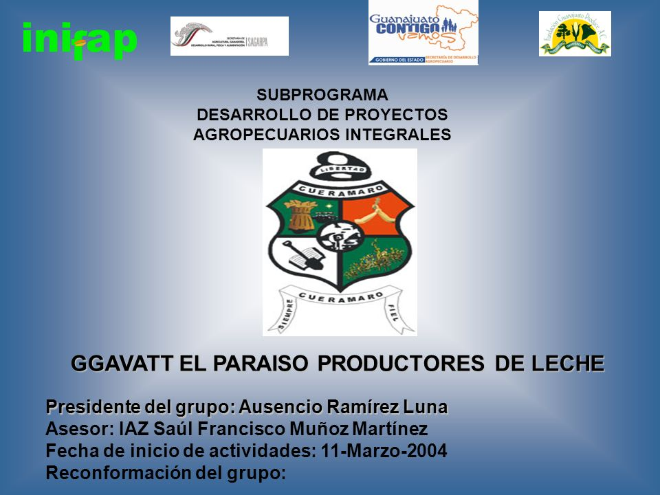 GGAVATT EL PARAISO PRODUCTORES DE LECHE