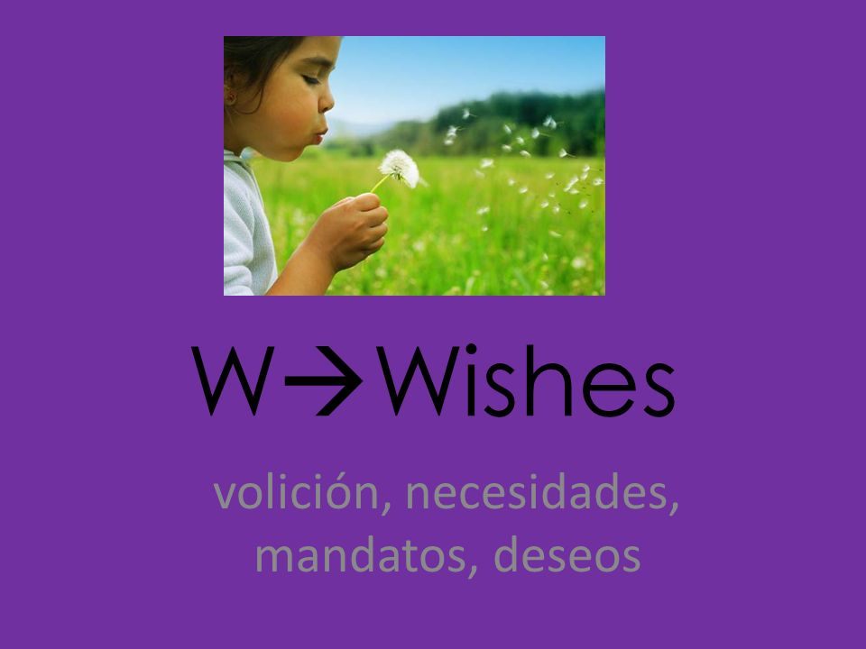 volición, necesidades, mandatos, deseos