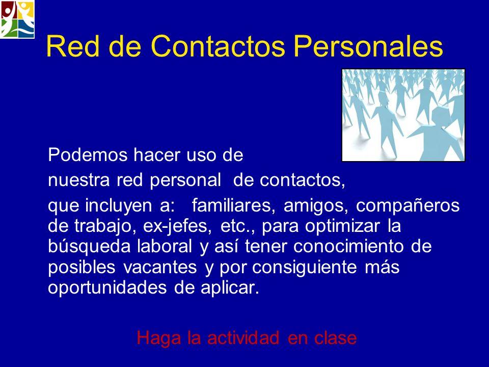 Red de Contactos Personales