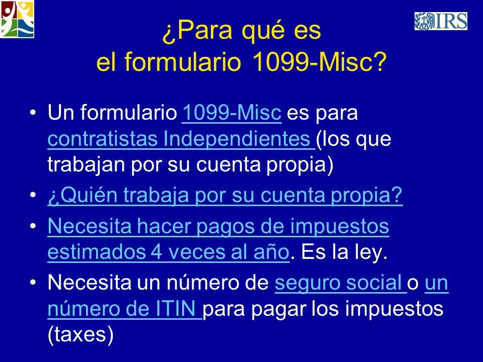 ¿Para qué es el formulario 1099-Misc