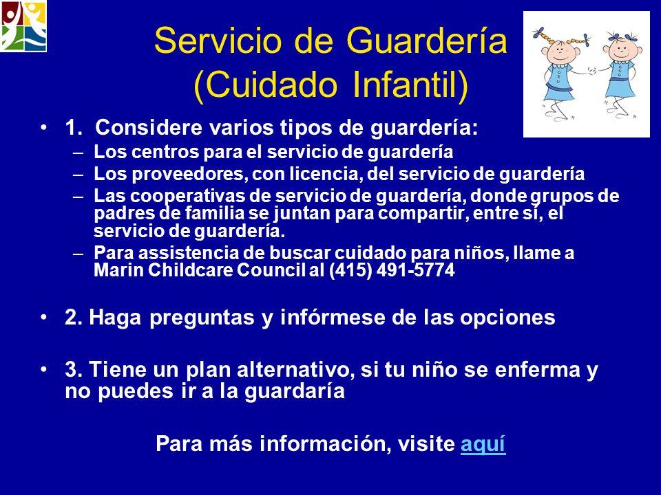 Servicio de Guardería (Cuidado Infantil)