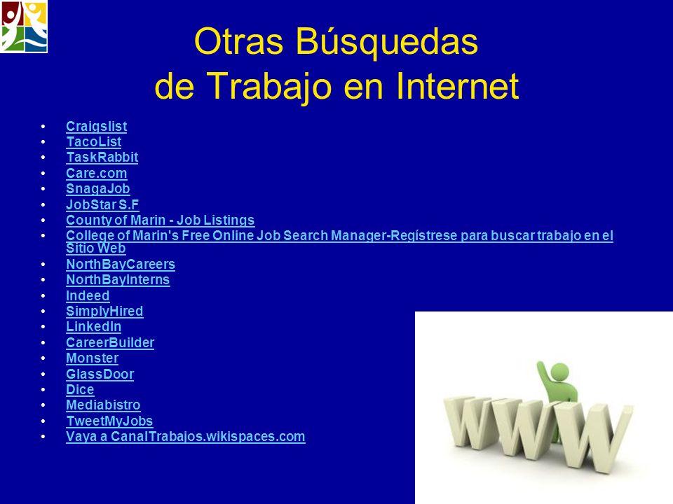 Otras Búsquedas de Trabajo en Internet