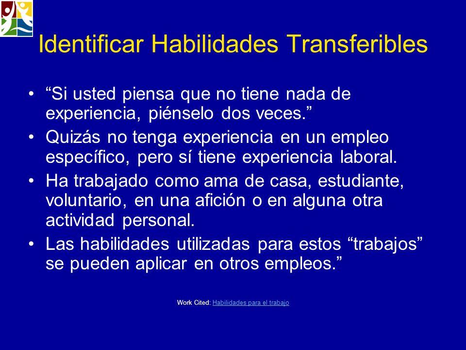 Identificar Habilidades Transferibles