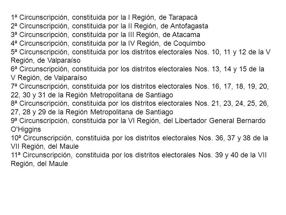 1ª Circunscripción, constituida por la I Región, de Tarapacá