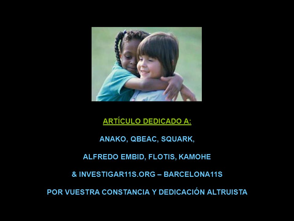 ALFREDO EMBID, FLOTIS, KAMOHE & INVESTIGAR11S.ORG – BARCELONA11S