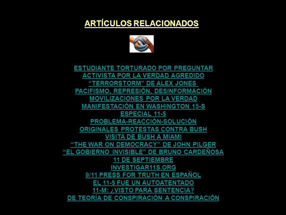 ARTÍCULOS RELACIONADOS DE TEORÍA DE CONSPIRACIÓN A CONSPIRACIÓN