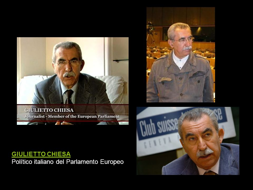 GIULIETTO CHIESA Político italiano del Parlamento Europeo