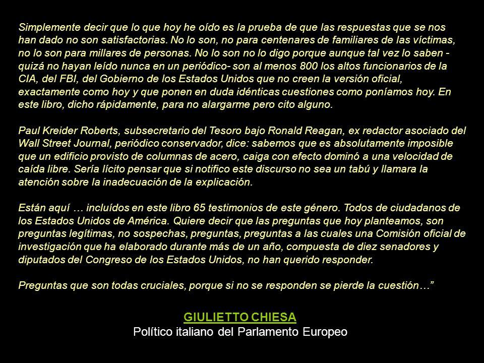 Político italiano del Parlamento Europeo