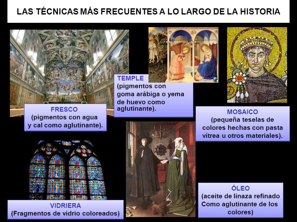 LAS TÉCNICAS MÁS FRECUENTES A LO LARGO DE LA HISTORIA