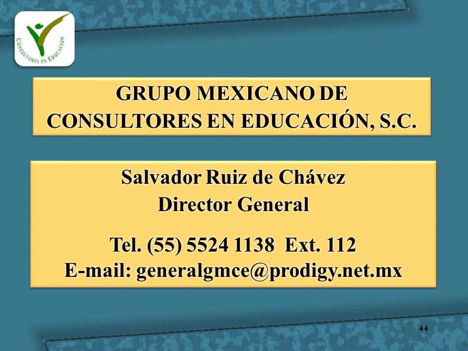 GRUPO MEXICANO DE CONSULTORES EN EDUCACIÓN, S.C.