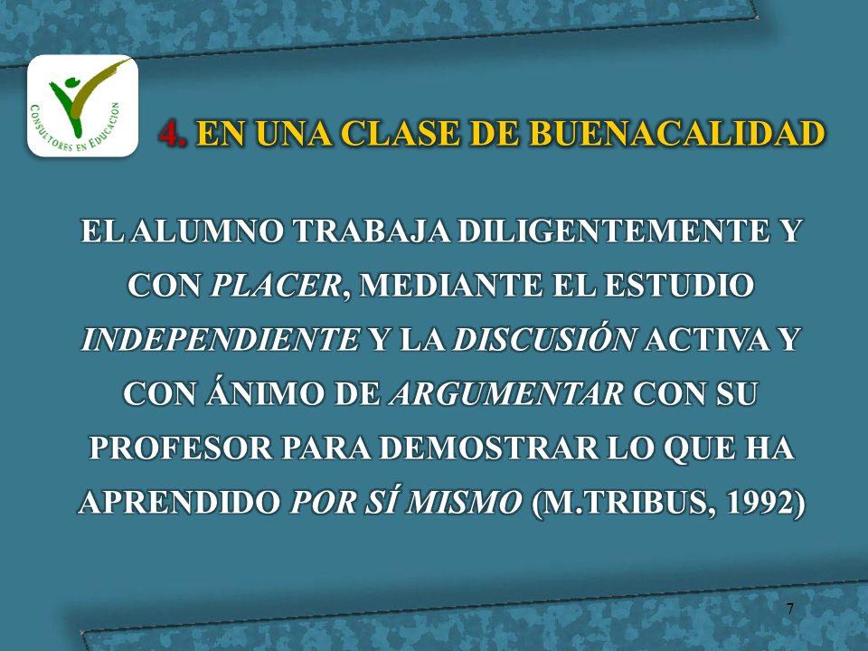 4. EN UNA CLASE DE BUENACALIDAD