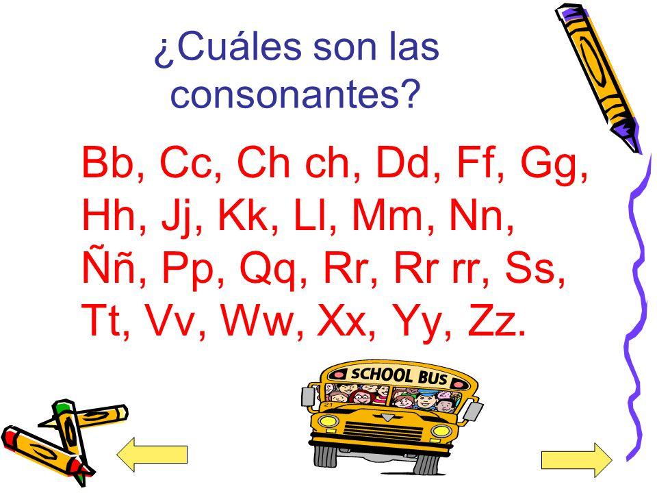 ¿Cuáles son las consonantes