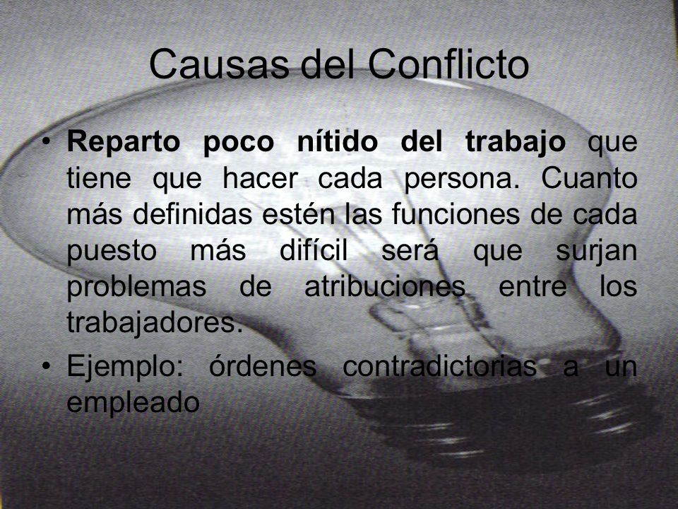 Causas del Conflicto