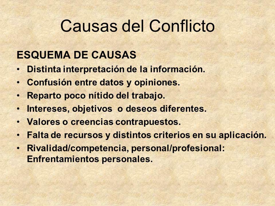Causas del Conflicto ESQUEMA DE CAUSAS