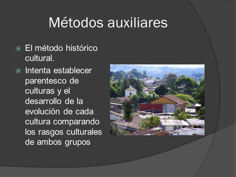 Métodos auxiliares El método histórico cultural.