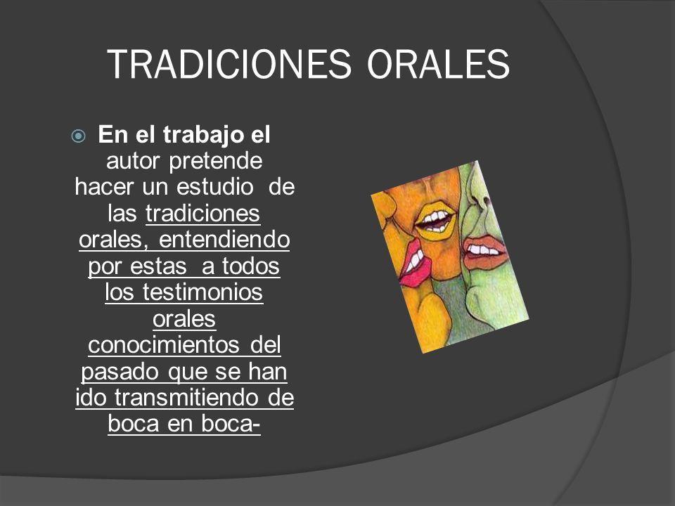 TRADICIONES ORALES