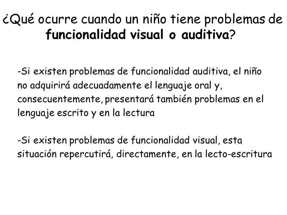 ¿Qué ocurre cuando un niño tiene problemas de funcionalidad visual o auditiva