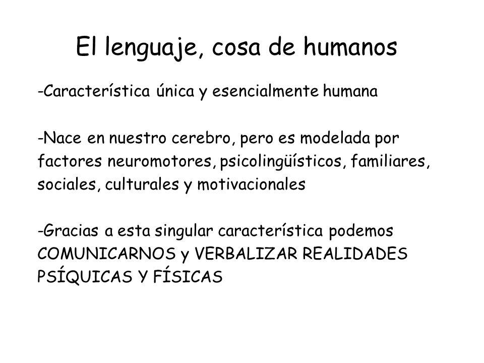 El lenguaje, cosa de humanos