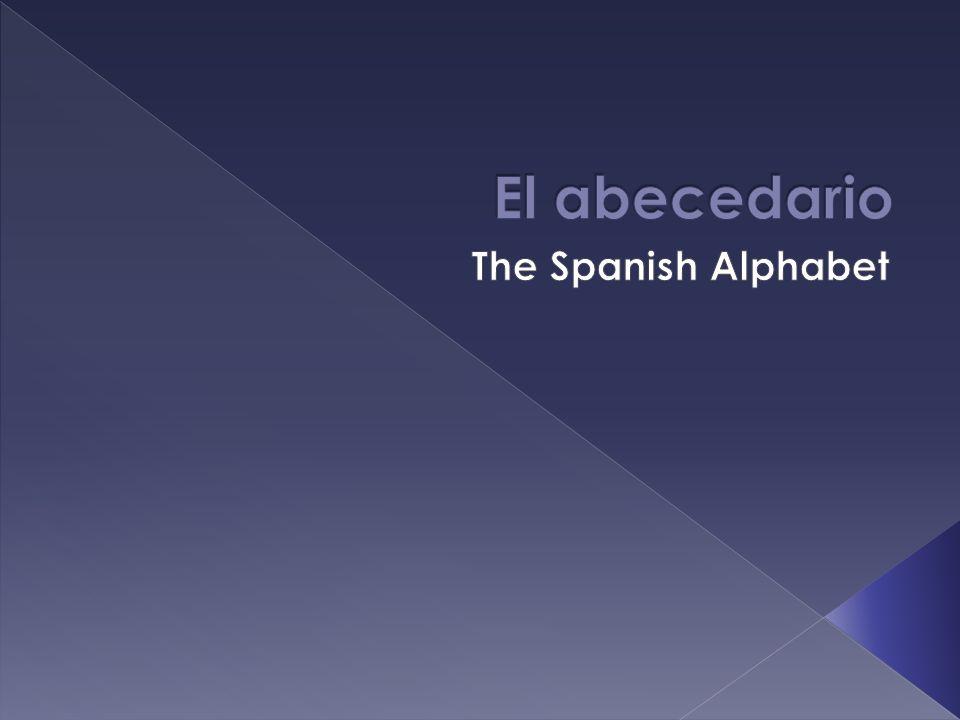 El abecedario The Spanish Alphabet