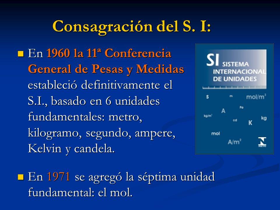 Consagración del S. I: