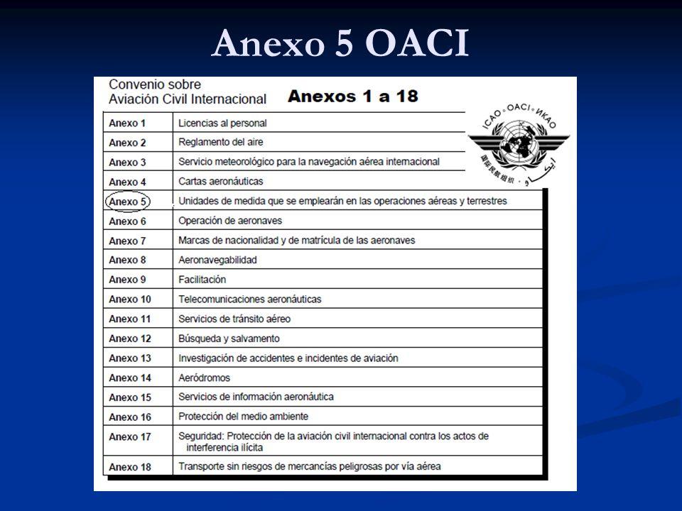 Anexo 5 OACI