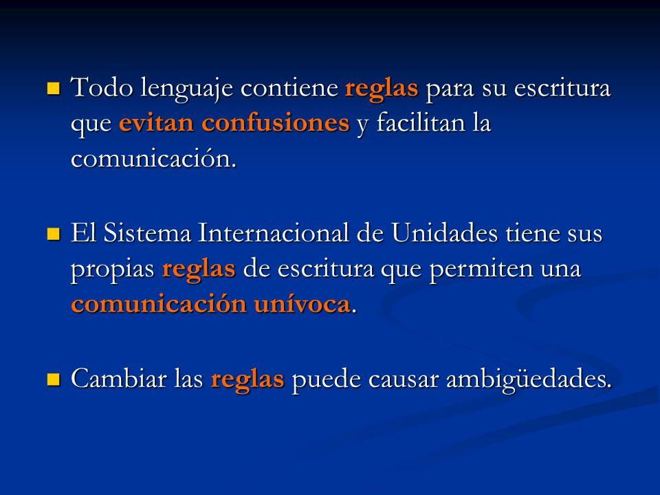 Todo lenguaje contiene reglas para su escritura que evitan confusiones y facilitan la comunicación.