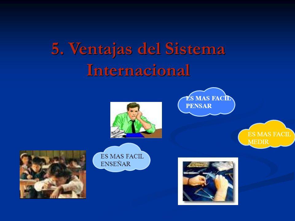 5. Ventajas del Sistema Internacional
