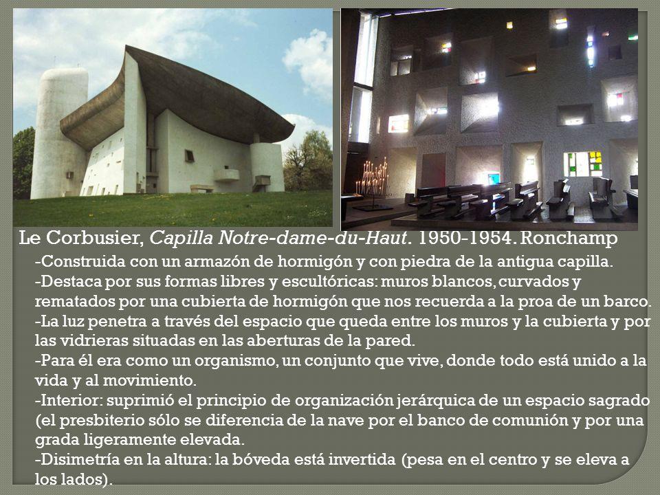 Le Corbusier, Capilla Notre-dame-du-Haut. 1950-1954. Ronchamp