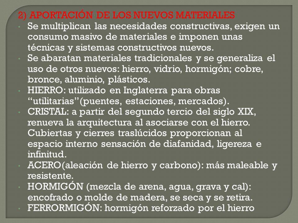 2) APORTACIÓN DE LOS NUEVOS MATERIALES