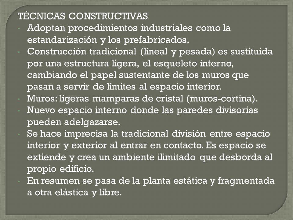 TÉCNICAS CONSTRUCTIVAS
